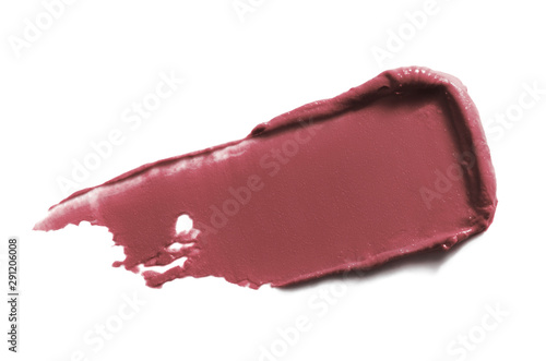 Lipstick swatch smear smudge isolated on white background Fototapet