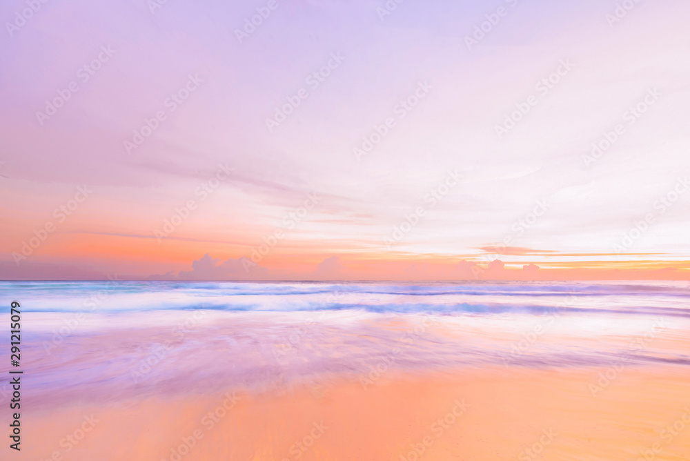 Fototapety, obrazy: Beach with beautiful sunset time at phuket thailand