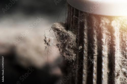 Fotografía dust on HEPA filter