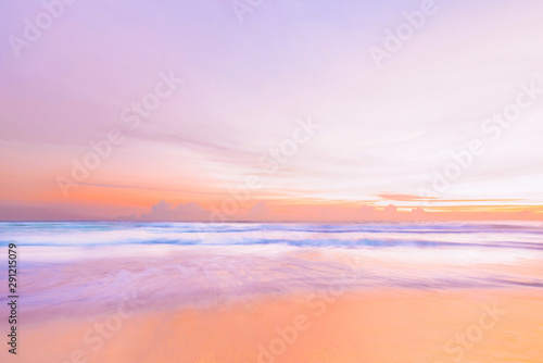 Keuken foto achterwand Purper Beach with beautiful sunset time at phuket thailand