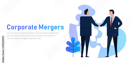 Mergers corporate and acquisitions Wallpaper Mural