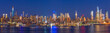 canvas print picture - New York City Manhattan buildings skyline evening