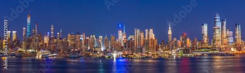 Fototapety, obrazy: New York City Manhattan buildings skyline evening 2019 September