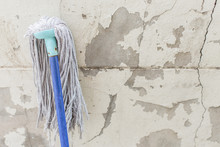 Mop On The Old Wall Texture Ba...