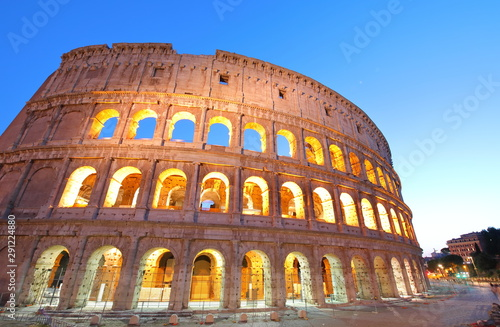 Fotografie, Tablou  Colosseum historical building Rome Italy