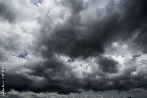 Obraz dark storm clouds with background,Dark clouds before a thunder-storm. - fototapety do salonu
