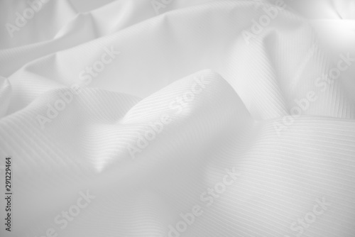 Shiny flowing cloth texture in macro shot Canvas Print
