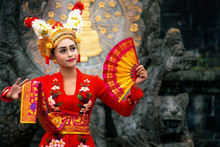 Balinese Girl Performing Traditional Dress