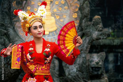Balinese girl performing traditional dress Wallpaper Mural