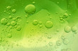 canvas print picture - Abstract Green water bubbles background