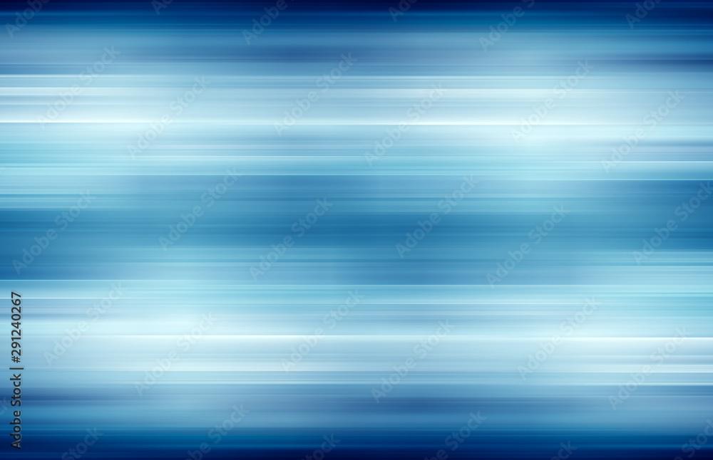 Fototapeta blue technology abstract motion background of speed light