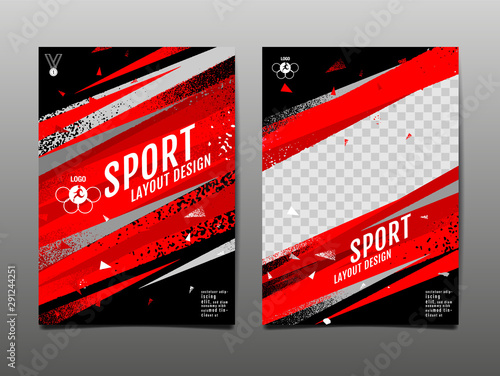 Fototapeta sport Layout , template Design, Abstract Background, Dynamic Poster, Brush Speed Banner, grunge ,Vector Illustration. obraz
