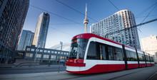 Streetcar In Toronto, Ontario, Canada