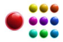 Many Beautiful Colorful Button In Vector File