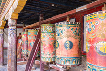Prayer Wheels In Qinghai Kumbum Monastery