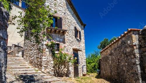 A characteristic glimpse of the city of Amelia, in Umbria Canvas Print