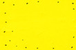 Leinwanddruck Bild - Happy halloween, background. A lot of little spiders on a yellow background. Copy space. Holiday background.