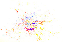 Abstract Splash Watercolor On White Background
