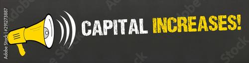 Fototapeta Capital increases! obraz