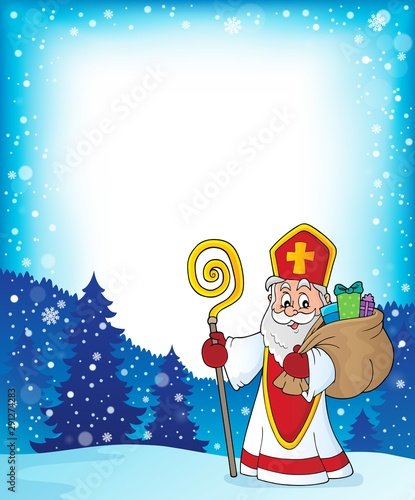 Photo sur Toile Enfants Saint Nicholas topic frame 2
