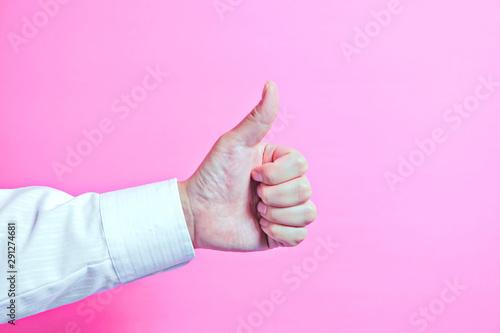 Fotografie, Obraz Businessman's hand showing good