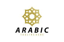 Arabic Logo Icon Vector Isolated