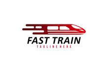 Fast Train Logo Icon Vector