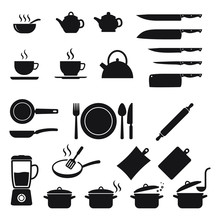 Cooking Icons Set, Kitchen Ute...