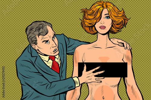 Leinwand Poster harassment