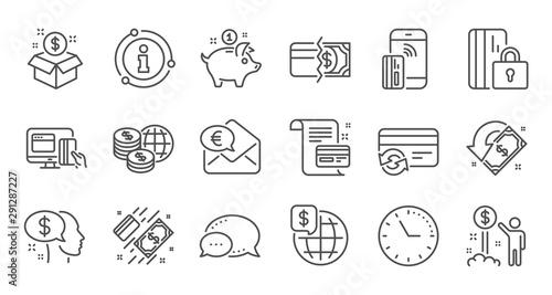 Fényképezés  Money payment line icons
