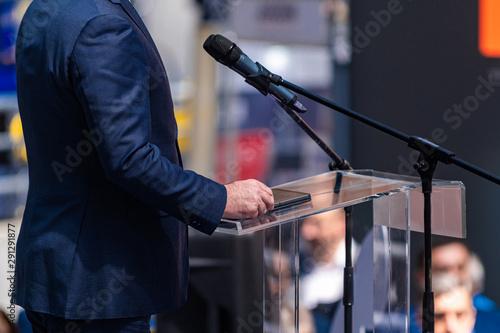 Male Speaker On The Stage Fototapeta