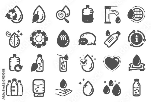 Fotomural  Water drop icons