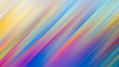 Leinwanddruck Bild - Abstract psychedelic gradient color diagonal line motion blur effect background