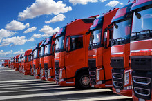 German Trucks In Formation Par...