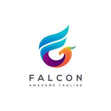 F Letter Logo For Falcon, Crea...