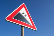 German Road Sign: Steep Grade/...