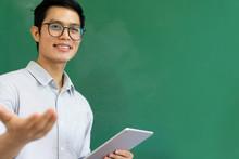 Close Up Young Asian Teacher M...