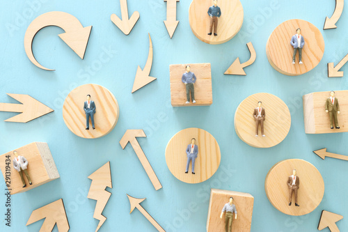 Fotografie, Obraz  business concept image of people figures over wooden table, human resources and