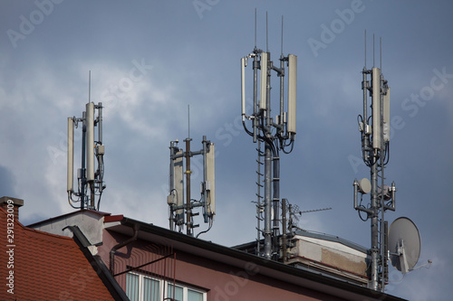 Cell sites on the roof. Wallpaper Mural
