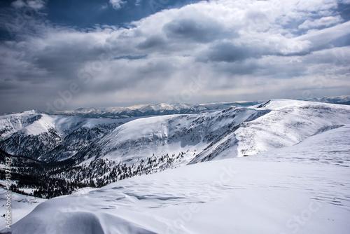 Beautiful view of mountains in the Hamar Daban area. Panorama #291323612