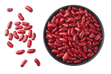 Red Kidney Beans In Black Bowl...
