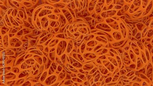 Stampa su Tela  Organischer Halloween 3D Future Hintergrund Orange Herbst Oktober Unikat