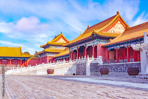 Photo Imperial Palace in the Forbidden City in Beijing in the evening, China