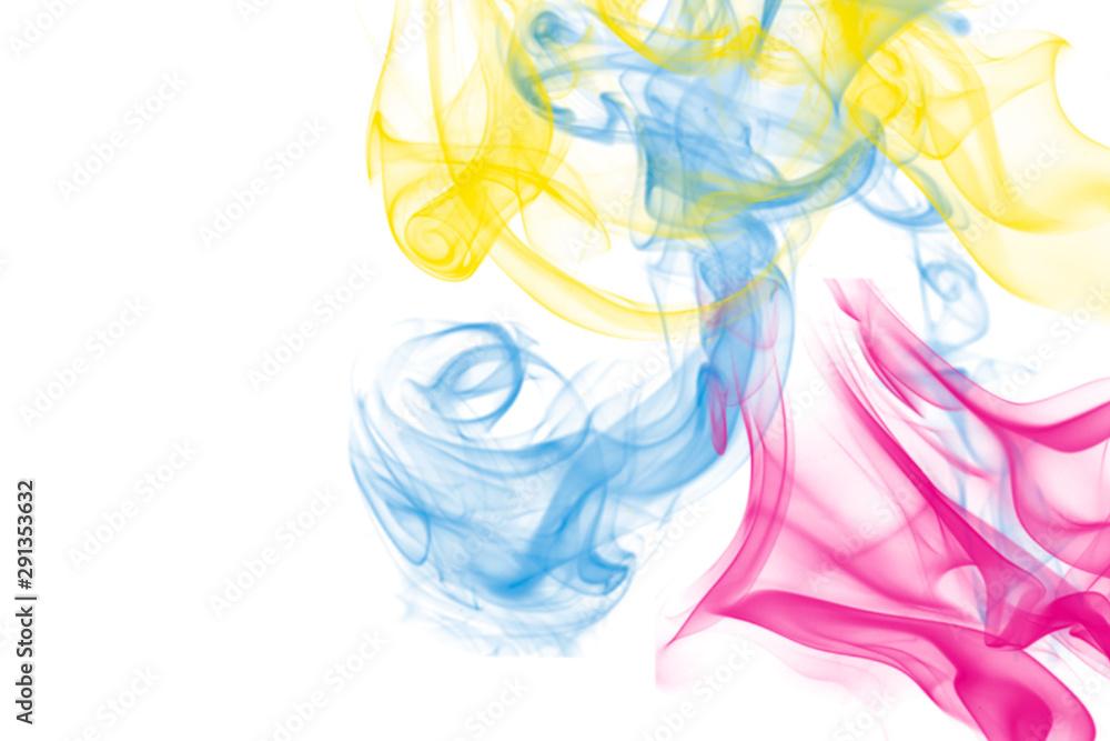 Fototapety, obrazy: Colorful Smoke CMYK