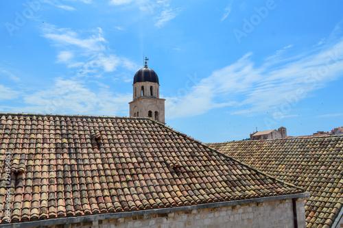 Fotografie, Tablou Red rooftops of town Dubrovnik on June 18, 2019