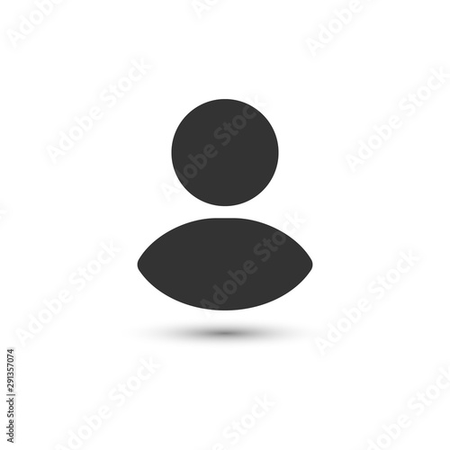 Photo user login or authenticate icon, human person symbol.