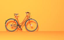 Vintage Bicycle In The Room