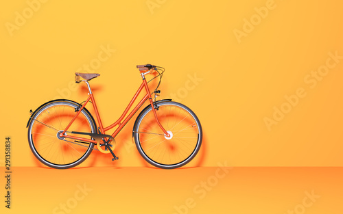 Fotografia  Vintage bicycle in the room