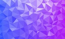 Blue Purple Texture Low Poly Background Geometric Mosaic Ai EPS