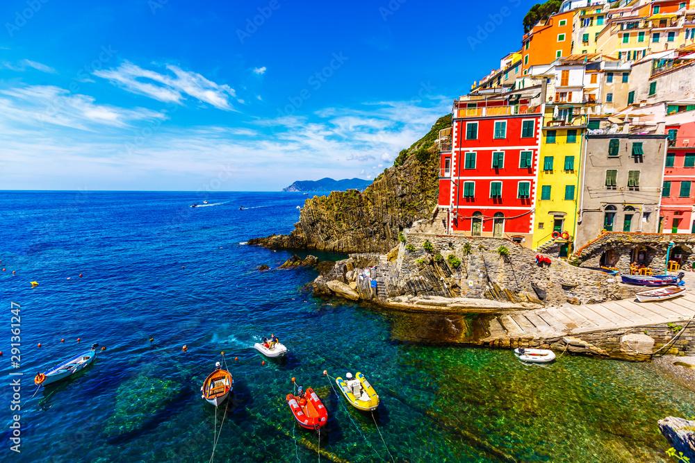 Fototapeta Riomaggiore, Cinqueterre, Cinque Terre National Park, liguria, italy